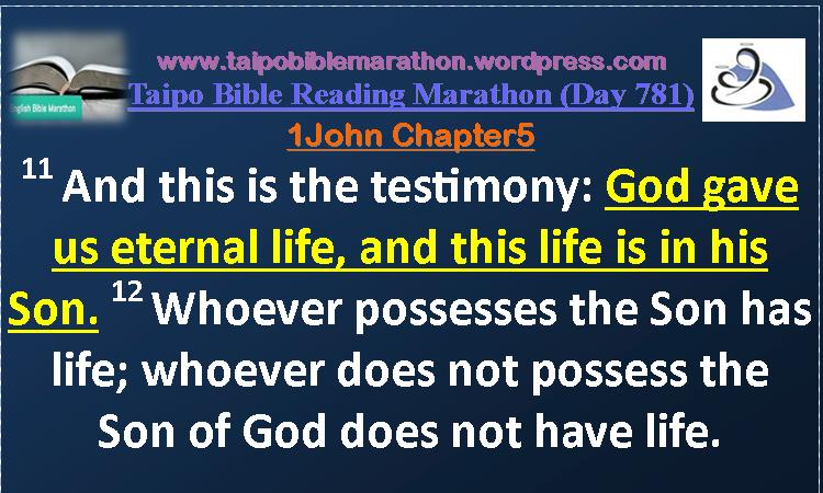 1 John Chapter 5 (TBRM Day781)
